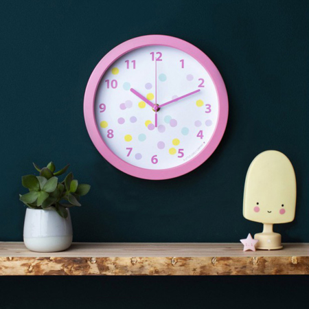 Picture of A Little Lovely Company Clock - Confetti