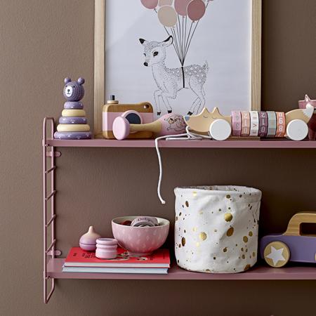 Immagine di Bloomingville® Cesta in cotone per giocattoli Nera