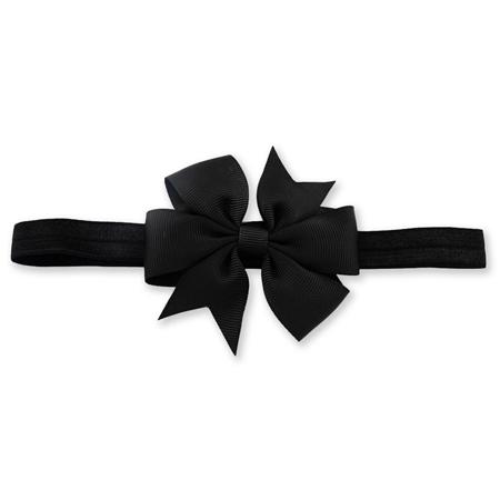 Fascia elastica per capelli Fiocco Black
