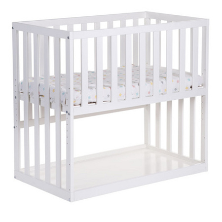 Childhome® Lettino su rotelle Beech white 50x90