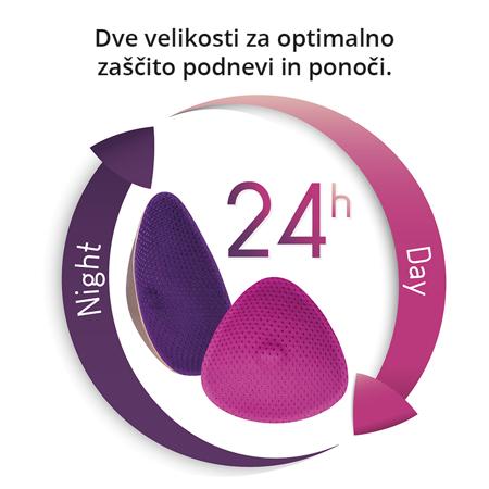 Immagine di Cache Coeur® Coppette assorbilatte lavabili Curve Night, 2 pezzi