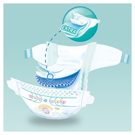 Immagine di Pampers® Pannolini Active Baby Dry taglia 5 (11-16 kg) 150 pz.