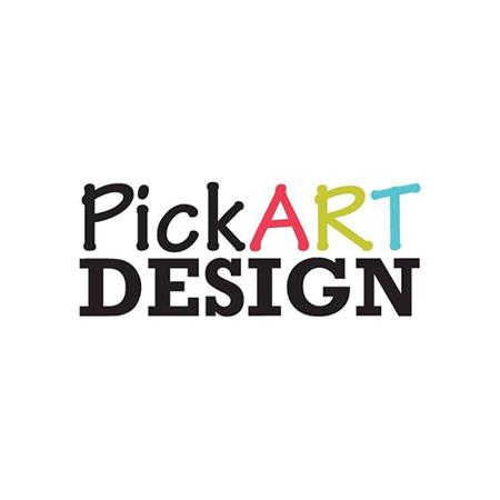 Pick Art Design® Adesivo da parete Cuori Rosa Pastello