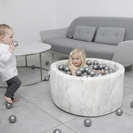 Misioo® Piscina con palline Marble White Velvet Collection