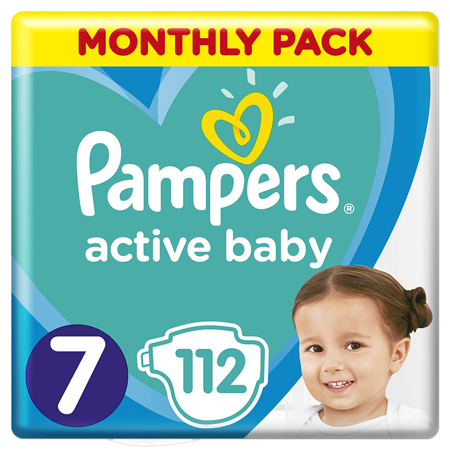 Pampers® Pannolini Active Baby Dry taglia 7 (15+ kg) 112 pz.