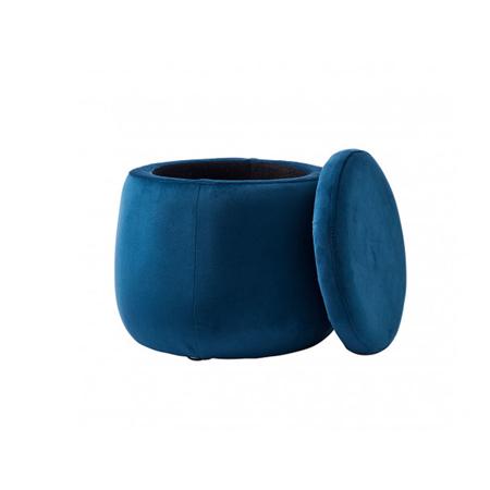 Immagine di Kids Concept® Sedile e contenitore 2 in 1 Rotondo Velvet Blu