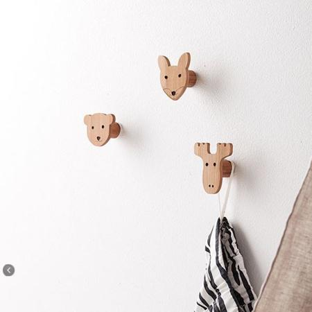 Picture of Kids Concept® Set Lesenih Obešalnikov na Živali