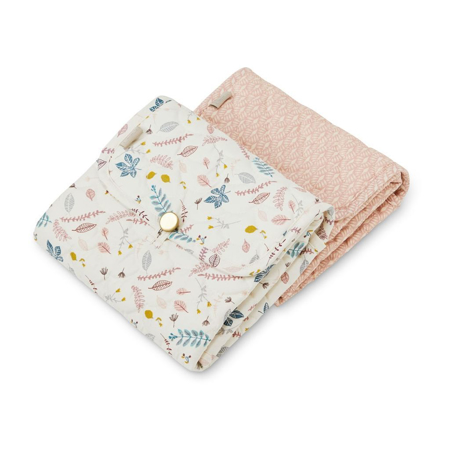 Picture of CamCam® Quilted Changing Mat Pressed Leaves Rose