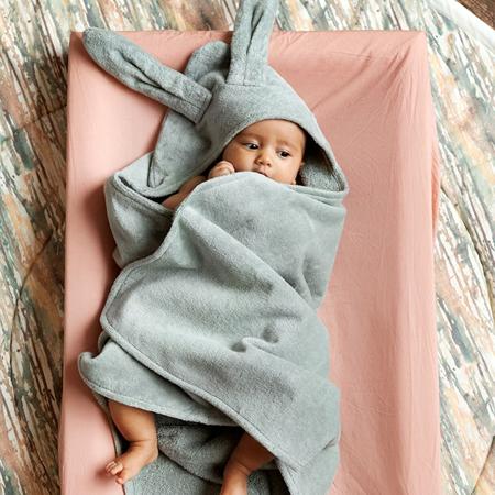 Elodie Details® Asciugamano con cappuccio Mineral Green 80x80