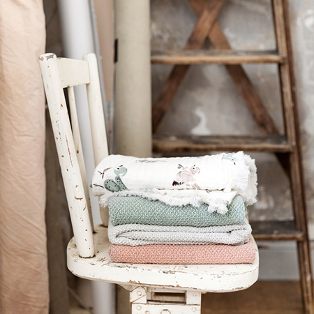 Picture of Elodie Details® Moss-Knitted Blanket Faded Rose (70x100)