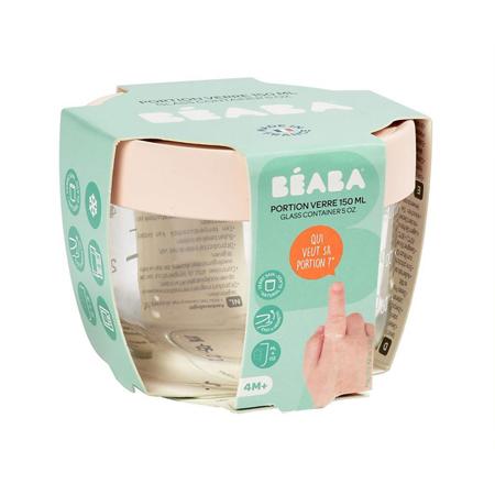 Beaba® Contenitore per alimenti in vetro 150ml Pink