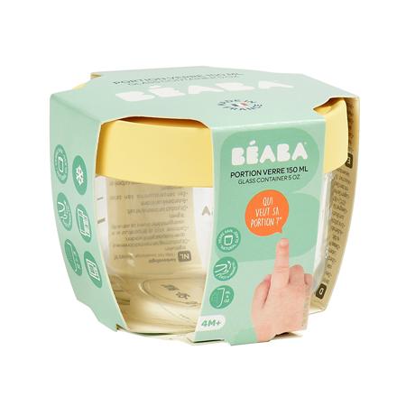 Beaba® Steklena posodica za shranjevanje 150ml Yellow