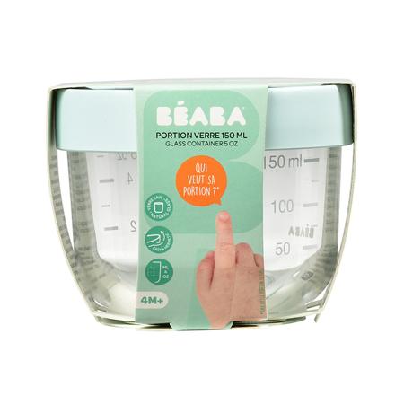 Beaba® Steklena posodica za shranjevanje 150ml Light Blue