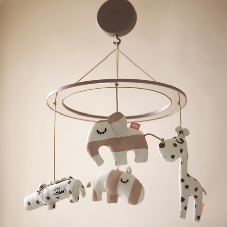 Picture of Done by Deer® Musical Mirror Mobile Sleepy Grey