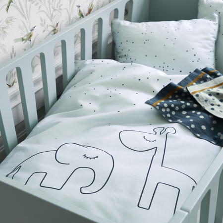 Done by Deer® Posteljnina Dreamy Dots Baby Blue 70x100