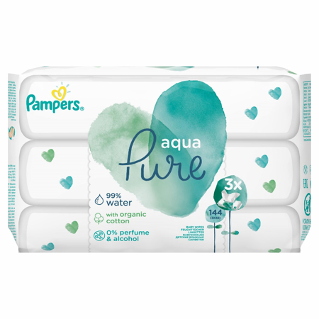 Picture of Pampers® Baby Wipes Aqua Pure Promo Pack 3x48 Pcs.