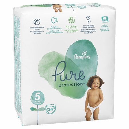 Slika Pampers® Pleničke Pampers Pure Protection vel. 5 (11+ kg) 24 kosov
