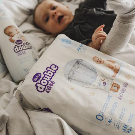 Immagine di Violeta® Pannolini Double Care Cotton Touch Junior (11-25 kg) 36 pz.+Salviettine umidificate Water Care in omaggio