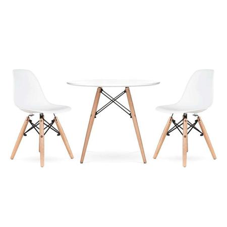 Immagine di EM Set tavolino e  2 sedie per bambini  White