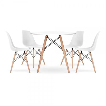 Picture of EM Scandinavian Inspired Table & Chair 4-Set White