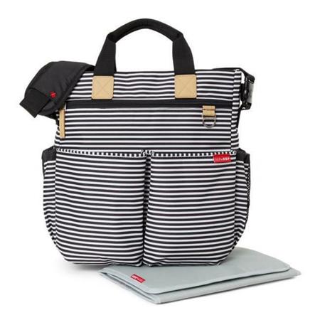 Immagine di Skip Hop® Borsa fasciatoio Duo Signature Black and White stripe