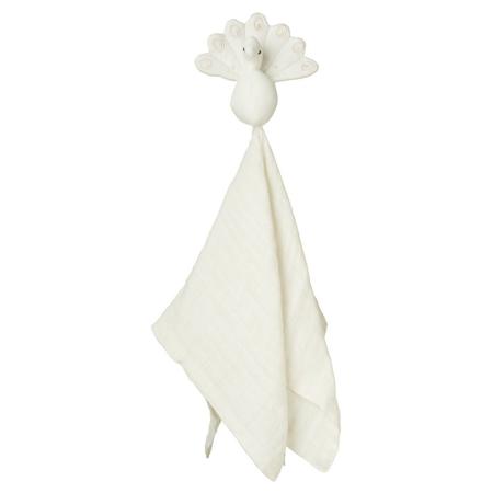 CamCam® Doudou pannolino Pavone Creme White 26x15