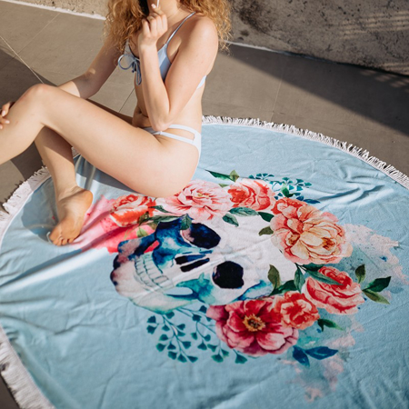 Picture of Olala Round Beach Towel - Wanderlust