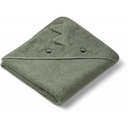 Immagine di Liewood® Asciugamano con cappuccio Augusta Dino faune green 100x100