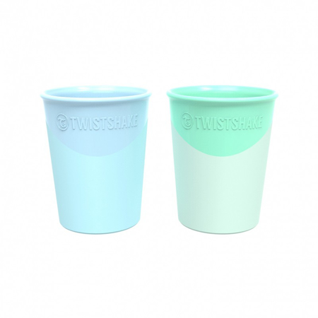 Twistshake® Set 2 bicchieri Pastel Blue&Pastel Green 170ml (6+m)