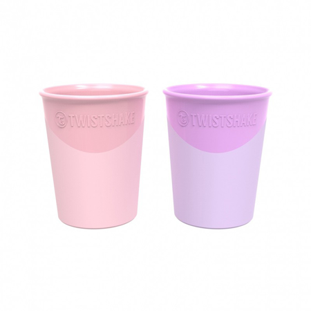 Twistshake® Set 2 bicchieri Pastel Pink&Pastel Purple 170ml (6+m)