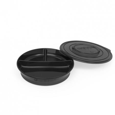 Immagine di Twistshake® Piatto a scomparti 210ml+2x90ml (6+m) - Black