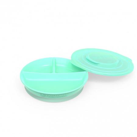 Immagine di Twistshake® Piatto a scomparti 210ml+2x90ml (6+m) - Verde Pastello