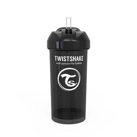Twistshake® Borraccia con cannuccia 360ml (12+ m) - Black