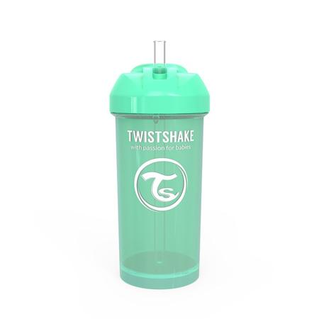 Twistshake® Borraccia con cannuccia 360ml (12+ m) - Verde Pastello