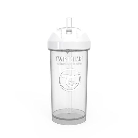 Twistshake® Borraccia con cannuccia 360ml (12+ m) - White