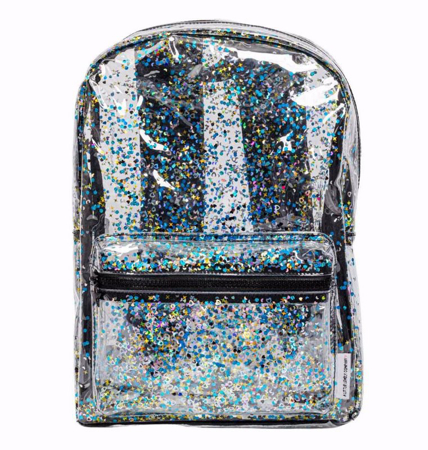 Picture of A Little Lovely Company® Backpack Glitter-Transparent/Black