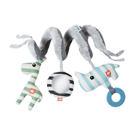 Done by Deer® Spirale attivita animaletti - Blu chiaro