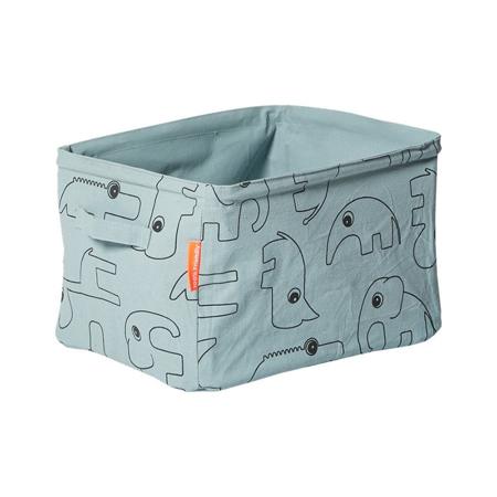 Done by Deer® Contenitore in Tessuto Reversibile - Blu chiaro