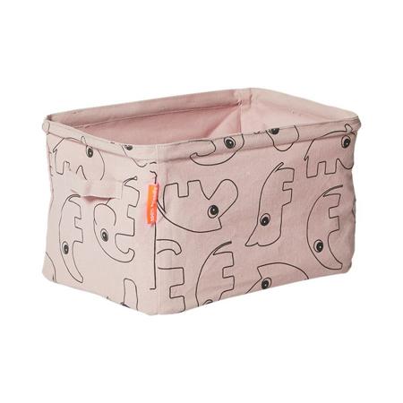 Done by Deer® Contenitore in Tessuto Reversibile - Rosa chiaro