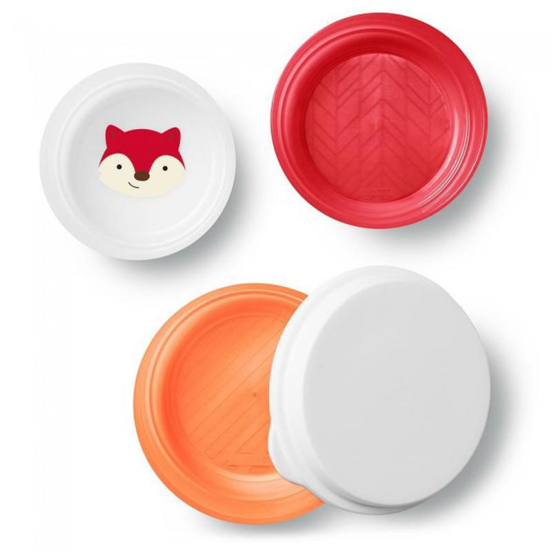 Immagine di Skip Hop® Set 3 piatti antiscivolo Volpe