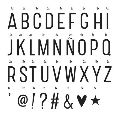 A Little Lovely Company® Lightbox Set Lettere e Numeri - Basic