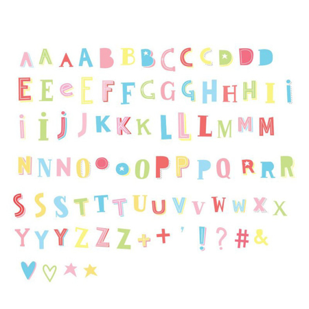 A Little Lovely Company® Lightbox Set Lettere e Numeri - Funky colour