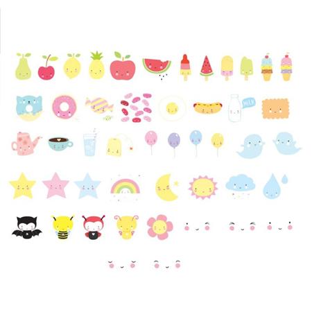 A Little Lovely Company® Lightbox Set Lettere e Numeri - Kawaii