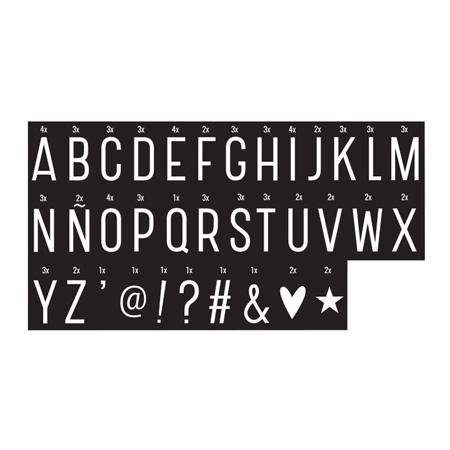 Immagine di A Little Lovely Company® Lightbox Set Lettere e Numeri - Monochrome