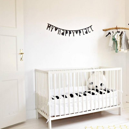 Picture of A Little Lovely Company Letter Banner - Black