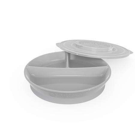 Immagine di Twistshake® Piatto a scomparti 210ml+2x90ml (6+m) - Grey