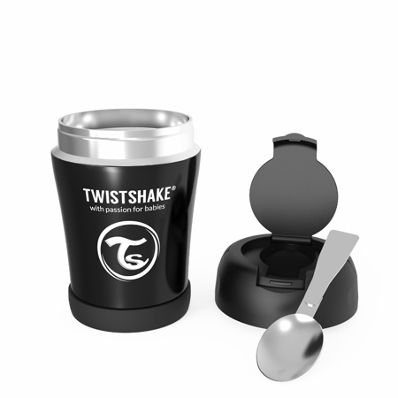 Twistshake®  Portapappa termico 350ml Black