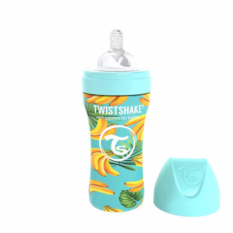 Immagine di Twistshake® Biberon in acciaio inossidabile Anti-Colic 330ml Banana