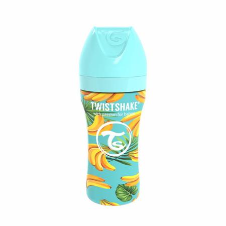 Slika Twistshake® Steklenička iz nerjavečega jekla Anti-Colic 330ml Banana