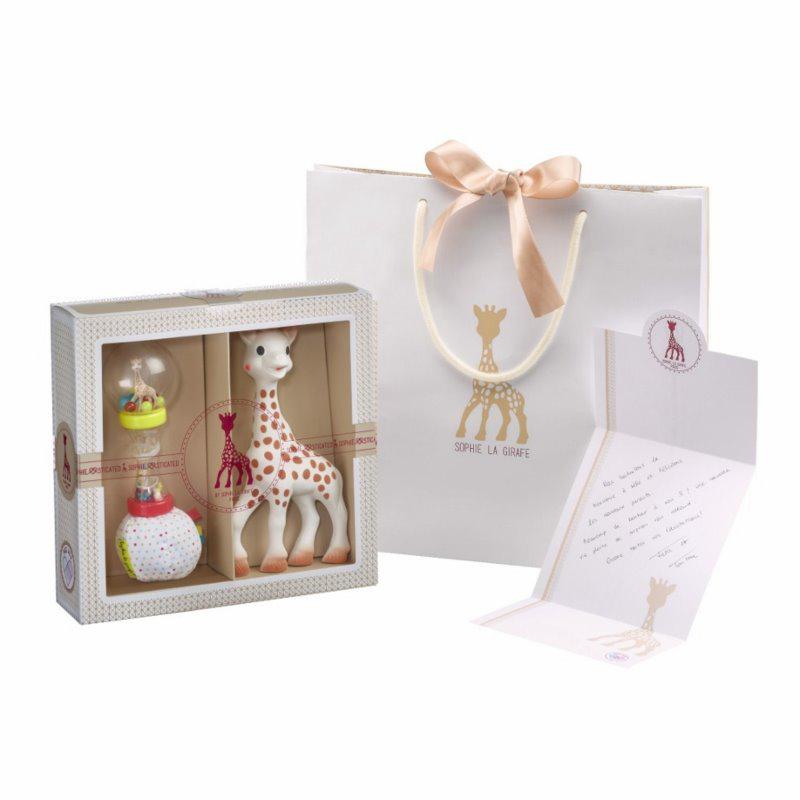 Immagine di Vulli® Set regalo massaggiagengive Giraffa Sophie e sonaglio Sophiesticated